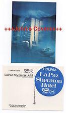 1980's BOLIVIA Cover LA PAZ Sheraton Hotel Postcard UNUSED