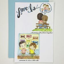 Love Is Greeting Card by Kim Casali (Thinking of you, Baby)