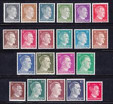 Dt.Reich Hitler-Freimarken 781-98+826-27 postfrisch einwandfrei