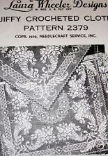 2379 LW 1939 HORN OF PLENTY FILET CLOTH Pattern to Crochet (Reproduction)