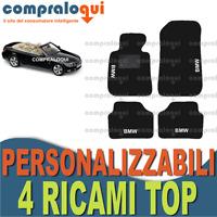TAPPETI per BMW SERIE 3 E93 CABRIO in MOQUETTE SU MISURA + 4 DECORI TOP RICAMATI