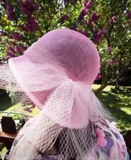 Damenhut im stil der 30er Jahre Glockenhut Rosa  Anlasshut Hochzeit Pferderennen