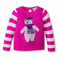 Kobe Kids Girl's Toddler Polar Bear Winter Christmas Sweater PINK  Sz 3t