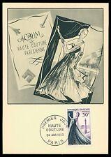 FRANCE MK 1953 HAUTE COUTURE PARIS MODE FASHION MAXIMUMKARTE MAXI CARD MC cf11