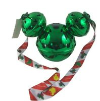 New Disney Park 2020 Christmas Holiday Green Mickey Jingle Bell Light Up Sipper