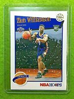 ZION WILLIAMSON ROOKIE CARD JERSEY #1 PELICANS SP RC 2019-20 Panini Hoops WINTER