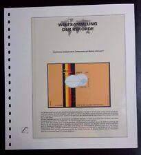 Brazil Brasilien 1974 first stamps with Blind Braille Weltsammlung der Rekorde