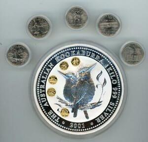 2001 Kilo Silver Australian Kookaburra Honor Mark Coin - US State Quarters