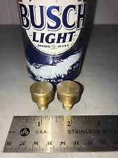 """PAIR Small Brass Grease Oil Cup Hit Miss Gas Engine Steam Antique 1/8"""" Pipe"""