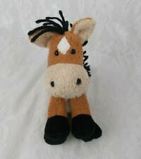 "Russ Luv Pets OATS Pony Horse Small Brown Chamois 6"" Plush Bean Bag Beanie Love"