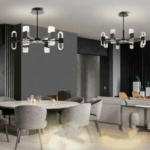 Large Chandelier Lighting Black LED Pendant Light Bar Ceiling Lamp Kitchen Light