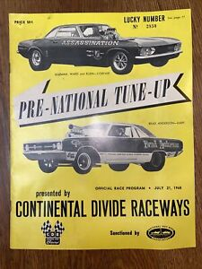 Autographed Drag Racing Program 1968 Continental Divide Raceways Race NHRA CDR