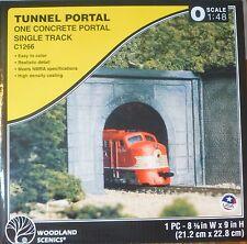 Woodland Scenics O #1266 Tunnel Portal (One Concrete Portal Single Track)