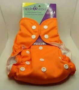 Applecheeks Cloth Diaper Cover Orange BRAND NEW One Size 6 - 35 lbs 3 - 16 kg.