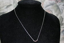 Original Links of London Plata Esterlina Collar de Oro Rosa cariño Mini XS 50 Cm