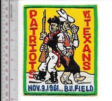Football Dallas Texans vs Boston Patriots Boston Universty Field AFC Nov 12 1961