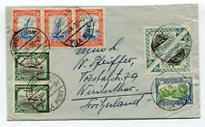 Mozambique multifranked cover Vila Pery to Winterthur Switzerland 7-1-1939
