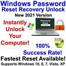 Windows Password Recovery Reset Unlock DVD for Windows 10, 8.1, 8, 7, Vista, XP