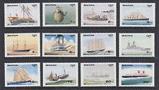 Bhutan Sc 737-760 MNH. 1989 Famous Ships, cplt set of 12 stamps & souv sheets