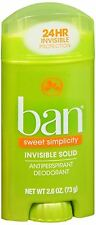 Ban Anti-Perspirant Deodorant Invisible Solid Sweet Surrender 2.60 oz 2PK