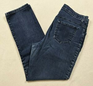 Gloria Vanderbilt Amanda Straight Leg Dark Wash Stretch Jeans Women's Size 14