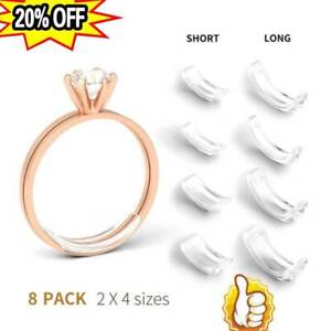 Silikon-unsichtbarer Ring-Größe Adjuster Reducer Ring Sizer Fit Alle Ring 8 Size