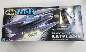 "Hasbro 2001 Batman SHADOWCAST BATPLANE 4"" Scale Vehicle Opened in Box"