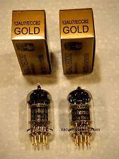 Electro-Harmonix GOLD PAIR TWO NEW  12AU7 12AU7EH Gold Pin Tubes