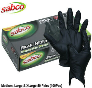 INDUSTRIAL BLACK DISPOSABLE NITRILE GLOVES THICK RUBBER MEDICAL PROTECTION AU
