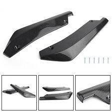 2x Carbon Fiber Car Rear Bumper Fin Canard Splitter Diffuser Valence Spoiler Lip