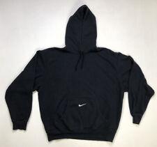 VINTAGE Nike Center Swoosh Embroidered Men's Hoodie Medium Black Travis Scott