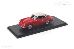Porsche 356 C Cabrio Hardtop rot/weiß 1963 Spark 1:43 S4922