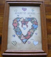 TCR framed 5 x 7 print #3371 Heart to Heart from 1996 country style sample