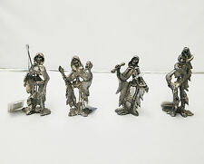 "Set of 4 Skeletons 3"" Santa Muerte Holy Death Statue Halloween Decor Grim Reaper"