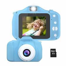 Kids Camera, Rechargeable Kids Digital Video Camera Dual Lens 1080P 100-Degree