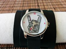 RoCK Bands Watch Leather wide band Women Men ROCK & ROLL COOL Naughty Artistic
