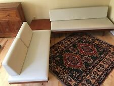 3 Pc Vintage Teak Sofa Swane Norway Bauhaus Exec Day Bed Sectional Couch Table