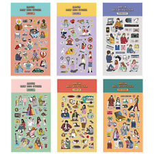 Ardium Daily Decoration Cute Stickers 6EA for Planner Book Calendar Point Decor