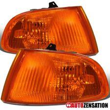 For 92-95 Honda Civic 2DR 3DR Amber Lens Corner Turn Signal Lights Lamps Pair