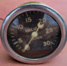 Vintage Stewart Warner Vacuum Gauge Crescent Moon Needle