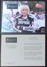 Carte postale Rallye Monté Carlo Historique 2017 Françoise Conconi