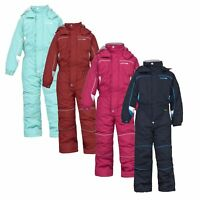 Trespass Laguna Boys Girls Insulated Jumpsuit Warm Waterproof Kids Ski Suit