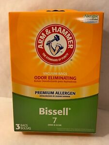 Arm & Hammer Bissell Style 7 Premium Allergen Vacuum Bags #30681 #32120 (3 Pack)