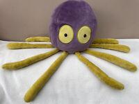 Jellycat Shrinking Violet Octopus Medium Baby Soft Toy Comforter Purple Yellow