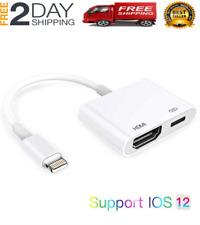 HDMI Adaptador Para Iphone 6 Plus 7 8 X iPad iPod Cable a Tv 1080P De Celular US