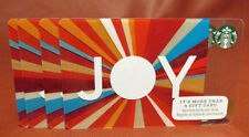 Lot of 4 Starbucks 2015 JOY Gift Cards New with Tags