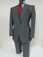 Gorgeous Maurizio Of Fifth Ave New York Hand made Full Canvass suit 40 R