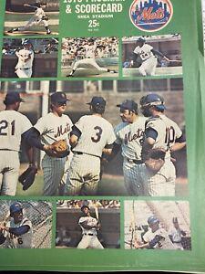 1973 NY Mets Program and Scorecard vs Yankees  - Mayor's Trophy Game