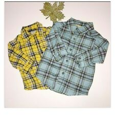 Carter's Baby Boys 6 Month Long Sleeve Button Up Cotton Plaid Shirts