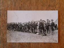 REAL PHOTO POSTCARD US MILITARY SOLDIERS CALVARY SAN ANTONIO TX TEXAS RIFLES OLD